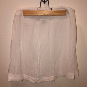 NWOT never worn strapless white flow top